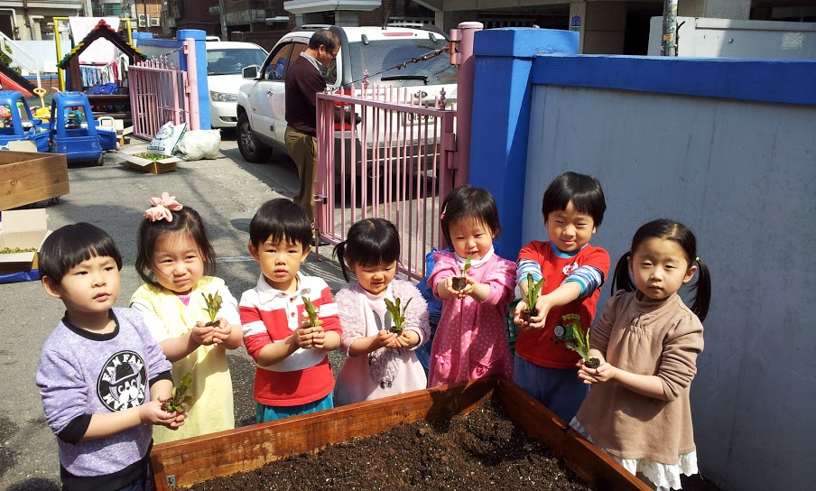 The Garden Project is also being done around children's daycare centers, kindergartens, and public schools.