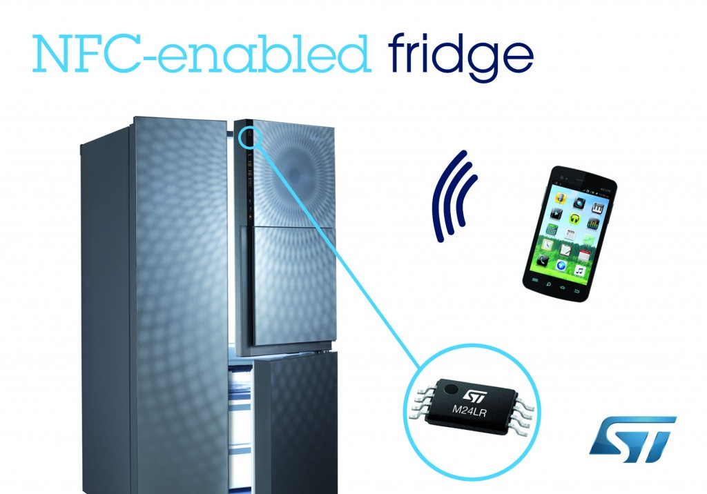 "The recently launched Classe Cube has become a sensation by offering a variety of innovative services to consumers as ""Korea's first NFC fridge."" (image:STMicroelectronics)"