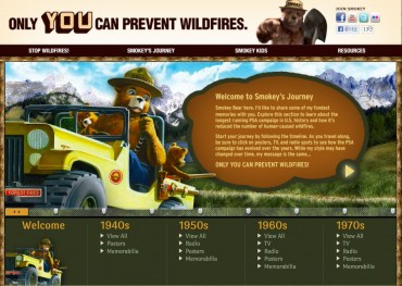 Smokey Bear Gives Bear Hugs in New Wildfire Prevention PSAs