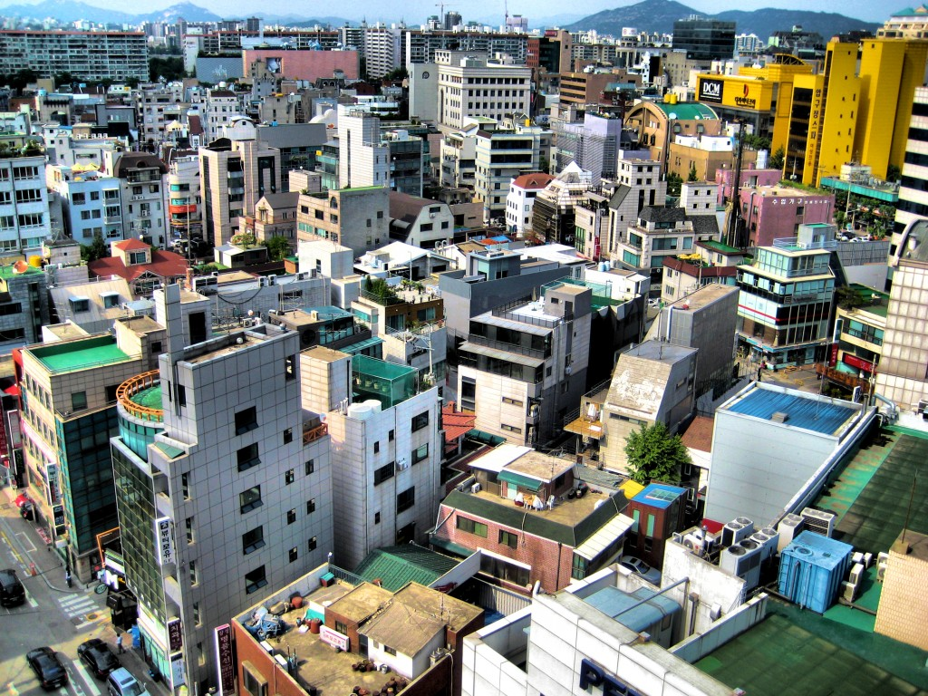 Aerial view of Gangnam residential area (image: Flickr, Francisco Anzola (fran001))