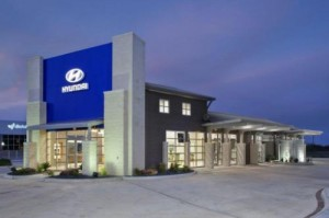Hyundai of Brenham, located in Brenham, Texas, was recently awarded LEED certification from the U.S. Green Building Council.(image: Hyundai Motor America)