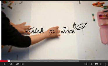 """College Students Stage """"Green Campaign"""" Displaying 'Trick or Tree' Video"""