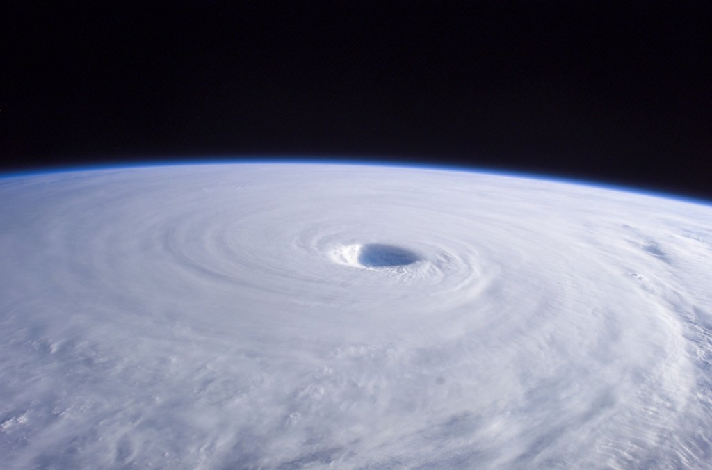 Typhoon Nabi is featured in this image photographed by an Expedition 11 crewmember on the International Space Station, as it swirls in the Pacific Ocean, heading toward southern Korea and Japan. (image: Fotopedia)