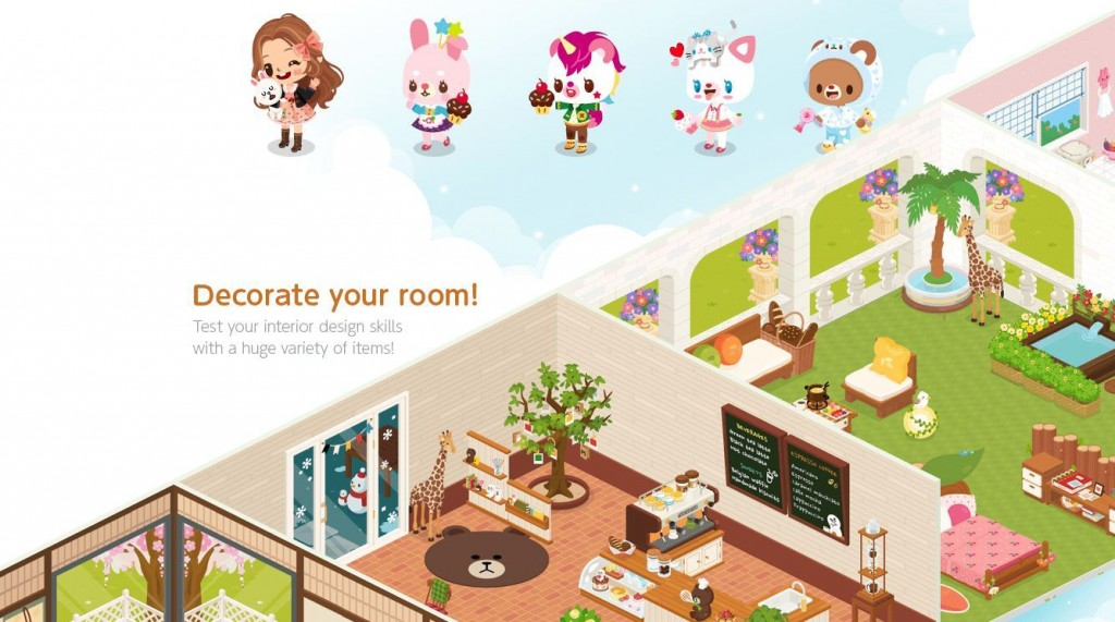 LINE PLAY is an avatar creator and suite of virtual environments that users can customize and use to communicate creatively with their family and friends. (image: LINE Corporation)