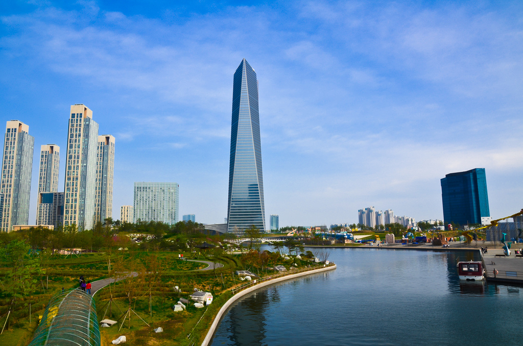The Global Green Growth Institute (GGGI) opened its Songdo liaison office on Wednesday. GGGI will use its Songdo office as the designated venue for international cooperation and coordination with multilateral organizations. Image: Incheon Free Economic Zone (Wikimedia)