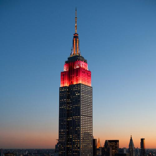Empire State Realty Trust to Celebrate the Chinese Lunar New Year with Special Empire State Building Tower Lighting and Festive Windows. (image: PRNewsFoto/Empire State Realty Trust, Inc.)