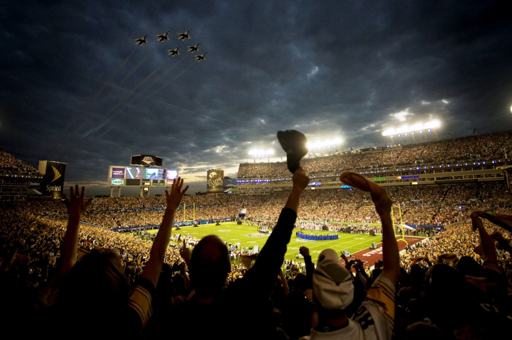 A University of Minnesota study found equally massive alcohol-over consumption during pre-game tailgating and in the stadiums, which produce a conservatively estimated 5,000 legally drunk fans at every NFL game. (image: Wikipedia)