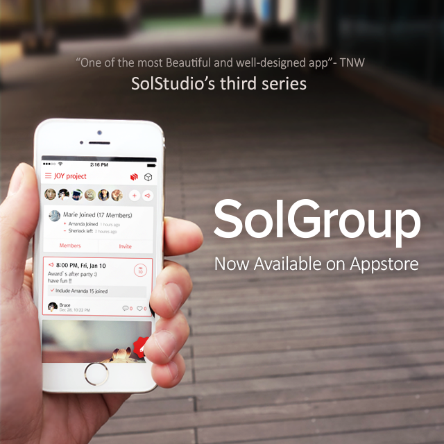 """Manage All Groups in One Hub"" … Daum Communications Unveils Private SNS ""SolGroup"""