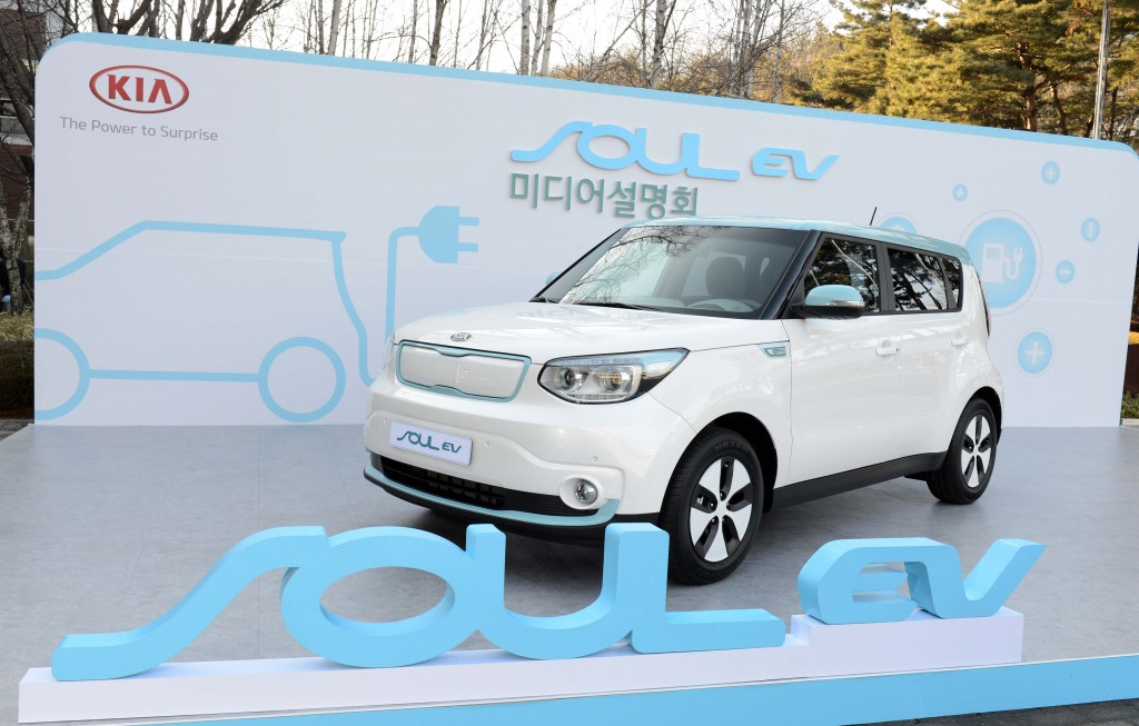 S. Korean government is offering generous subsidies and tax breaks for electric-vehicle, or EV, buyers which also aims to have all the cars on Jeju, the Hawai of Korea, be electric by 2030. (image: KIA Soul's EV model)