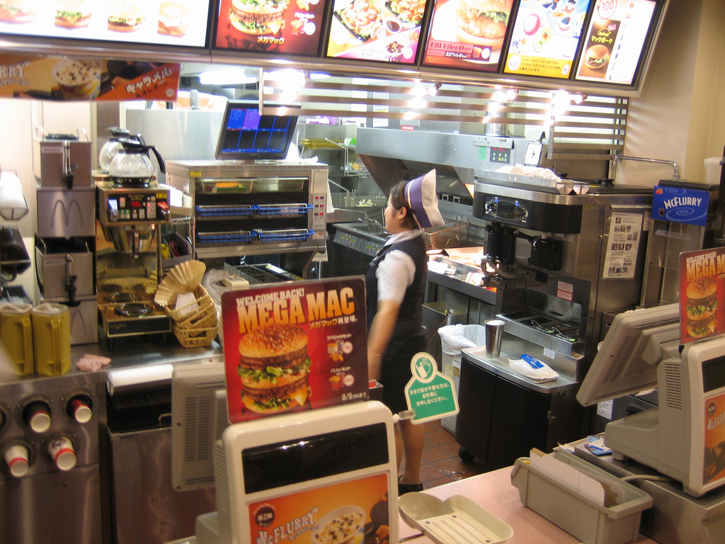 The fast food and coffee industries were slightly more pleasant to work for than the convenient stores. (image: Ben garney/flickr)