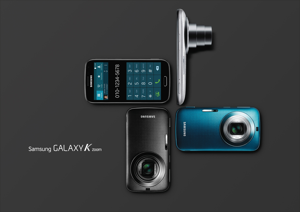 As a camera-specialized smartphone, the Galaxy K zoom offers an advanced technical camera system designed to offer the control and functionality of a professional camera. (image: Samsung Electronics)