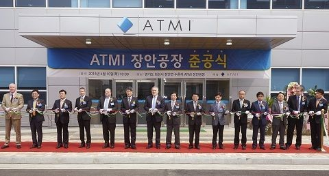 Ceremony Marks Grand Opening of ATMI's South Korea Manufacturing Facility