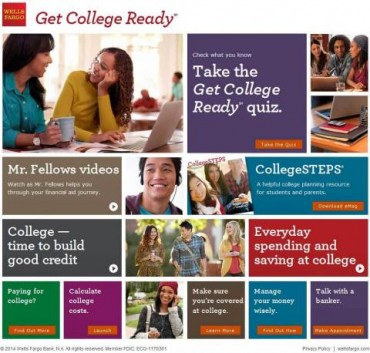 Wells Fargo Introduces Interactive Platform for Parents and College-Bound Students