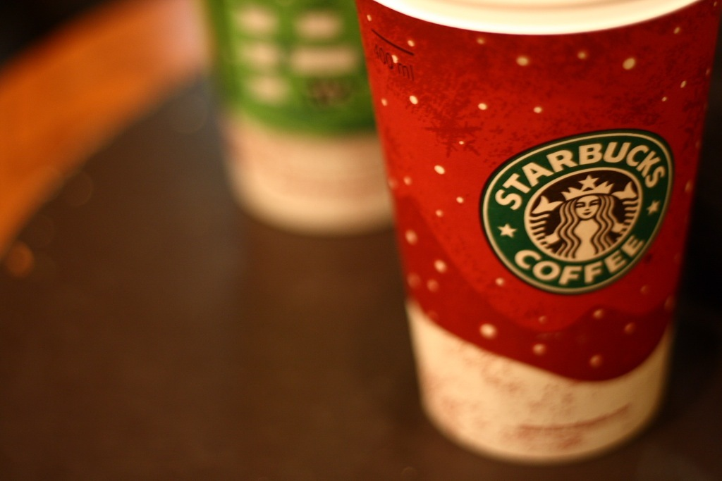 Starbucks is an alarming competitor to financial service firms with its one-third of transaction being paid by  its own charge cards. (image: Esparta/flickr)