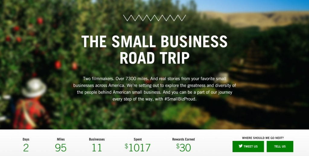 "Two Brooklyn Filmmakers to Travel Over 7,000 miles to Tell the Stories of America's Small Business Owners. (image: homepage for ""I Am Small Business Proud"" campaign)"