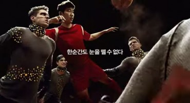Korean Football Stars Appearing on LG Ultra HD TV