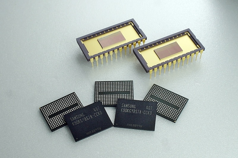 Samsung Electronics announced that it has begun mass producing the industry's first three-dimensional (3D) V-NAND flash memory using 32 vertically stacked cell layers, which is its second generation V-NAND offering. (image credit: Samsung Electronics)