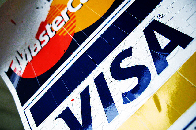 Under the present arrangement, domestic card companies using international credit card logos must pay 0.2-1.0 percent of fees for every overseas transaction and 0.04 percent for even domestic transactions. (image: roujo/flickr)