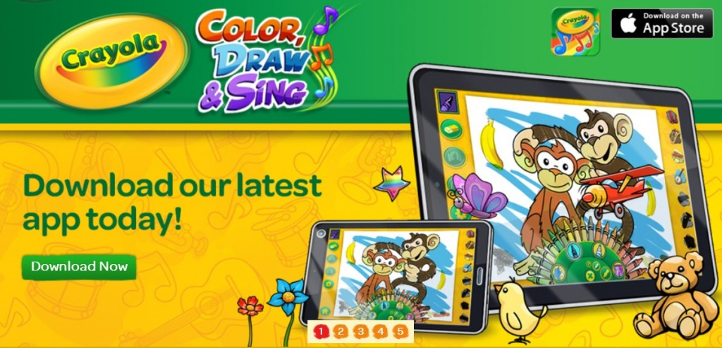 Crayola® and Legacy Games Team up on Mobile Apps to Spark Children's Creativity (image: Crayola.com)