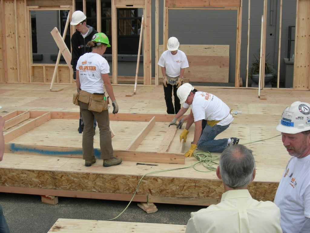 "Habitat for Humanity International (HFHI), generally referred to as Habitat for Humanity or simply Habitat, is an international, non-governmental, and non-profit organization, is devoted to building ""simple, decent, and affordable"" housing and has addressed the issues of poverty housing all over the world. (image: Wikipedia)"