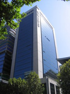 Some market watchers said the Samsung SDS IPO is analogous to the Samsung chairman giving his three children inheritance money in advance.(image: Samsung SDS Headquarters in Seoul/Wikipedia)