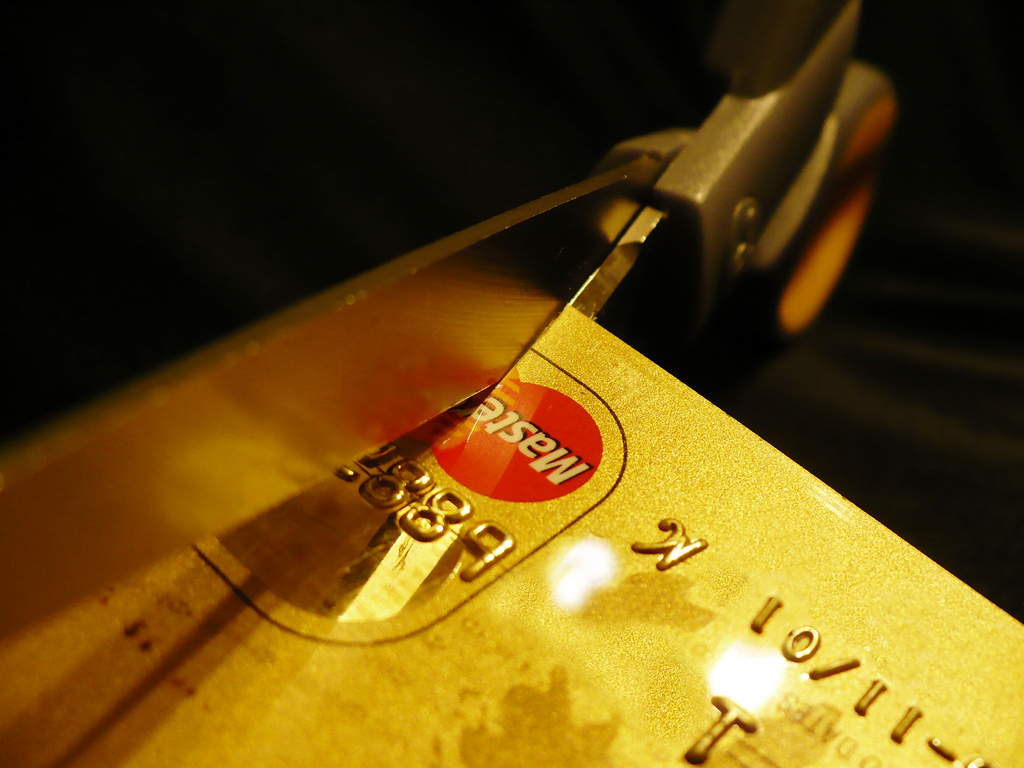 as debit cards get more popular, credit card usage has declined, and credit card users have voluntarily got rid of some of their unused cards due to reduced benefits. (image: NapInterrupted/flickr)