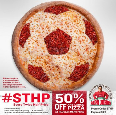 U.S. Soccer Team Plays for a Chance To Advance and More Half-Price Papa John's Pizza