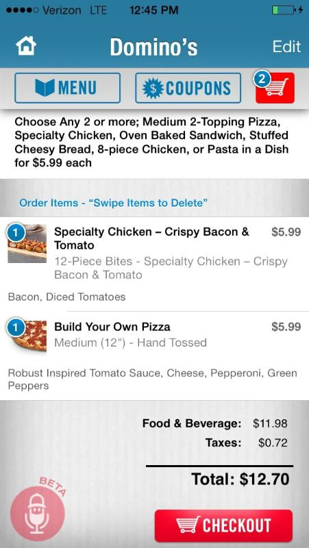 Domino's Pizza® Continues as Technology Trailblazer, Launches Voice Ordering for its iPhone® and Android™ Apps