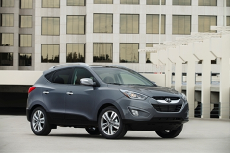 The 2014 Hyundai Tucson topped the Compact Crossover SUV category in the 2014 AutoPacific Vehicle Satisfaction Awards. (image credit: Hyundai Motor America)