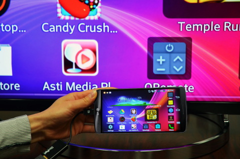 Analogix Semiconductor, Inc. is showcasing its SlimPort® solution for gaming and entertainment with LG's new G3 flagship smartphone during this week's 2014 Mobile Asia Expo in Shanghai, China. (image credit: Business Wire)