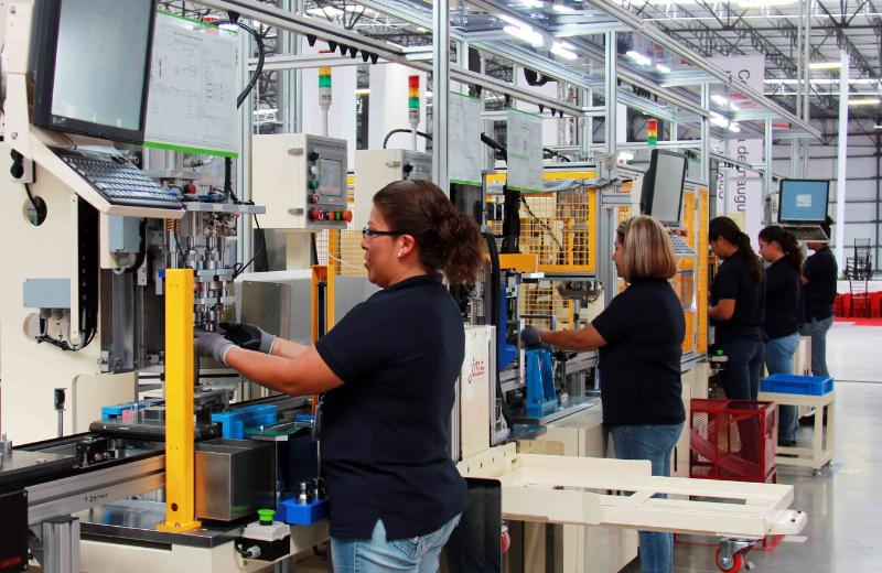 Production line of the LG Innotek automotive components plant in San Juan del Rio, Mexico. LG Innotek/PRNewsFoto)