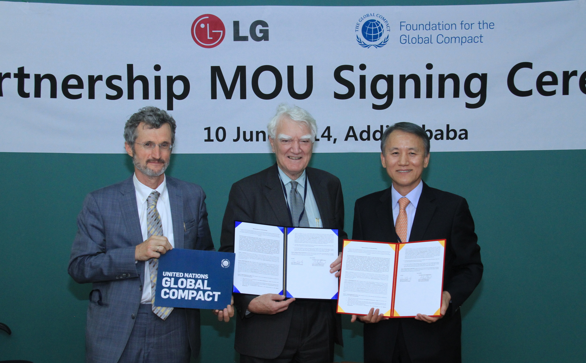 LG Corp. strengthened its collaboration with the United Nations Global Compact (UNGC) to support its work on the Post-2015 Development Agenda. (image credit: LG Corp.)