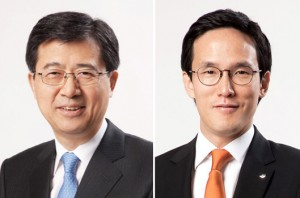SeoSeung-hwa, vice chairman(left),Cho Hyun-beom, president in charge of marketing and operations(right)