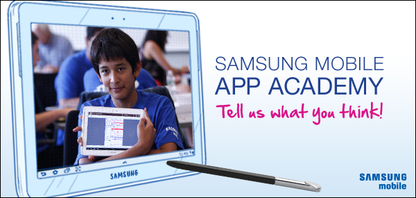 Samsung Mobile App Academy will offer $35,000 in scholarships to winning mobile application ideas through newly enhanced program (image: Samsung Telecommunications America)