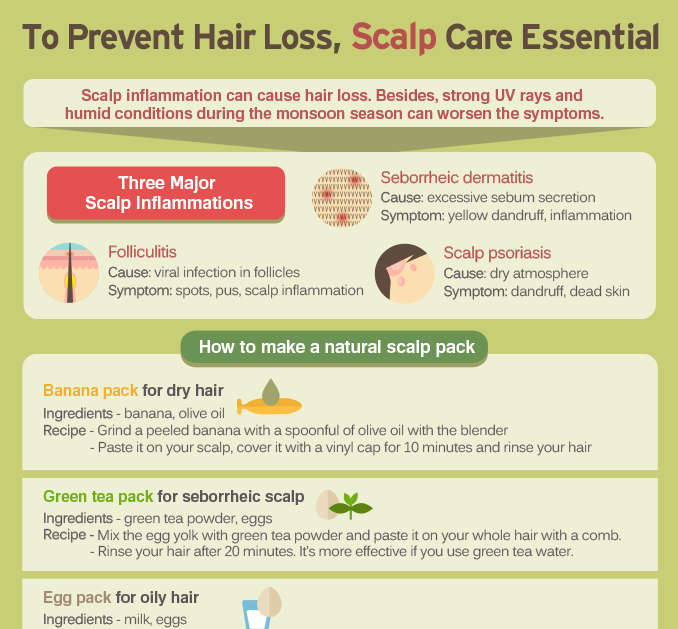 [Infographic] To Prevent Hair Loss, Scalp Care Essential