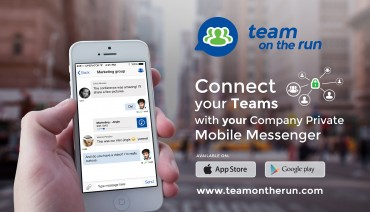 "StreamWIDE Launches Enterprise Mobile Messaging App ""Team on the Run"" Maximizing the Efficiency of Group Communication"