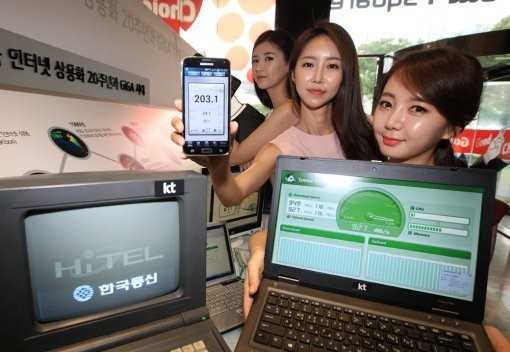 "KT will concentrating on realizing ""GiGAtopia,"" a mobile environment connected through superfast gigabit technology. (image: KT)"