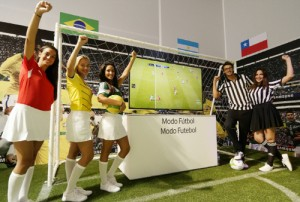 As countdown to the much anticipated Brazil World Cup begins, Samsung Electronics is eyeing growing excitement in the run-up to one of the world's largest sporting events which are to be held in Brazil this month. (image: Samsung Electronics)