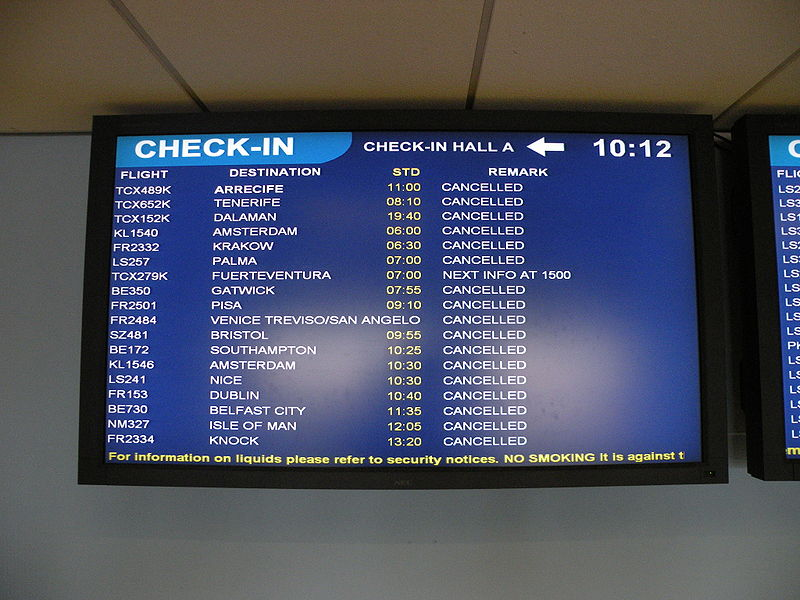 Digital signage refers to any electronic display that broadcasts television programming, menus, information, advertising, and other contents. (image credit: wikimedia)