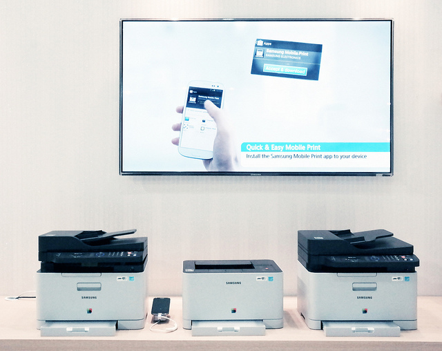 """Samsung is committed to offering convenient print options to our customers, and mobile printing makes it easier than ever to print documents from any device, whether it's your PC, tablet or phone"" (image: samsungtomorrow/ Flickr)"