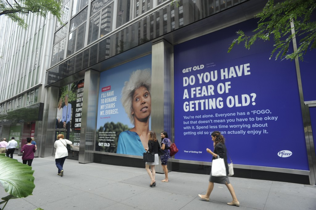 A recent survey, conducted online by Harris Poll on behalf of Pfizer's Get Old, found that 87% of Americans have at least one fear when they think about getting old. (image: Pfizer/ Business Wire)