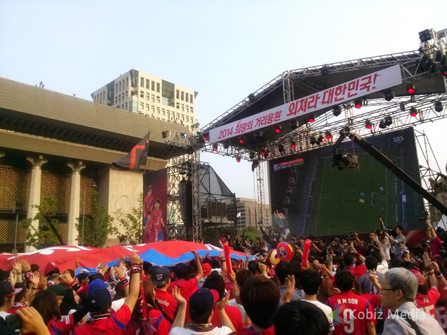 The Red Devils had to exit the street cheer too early in Brazil World Cup. (image: Kobizmedia/ Korea Bizwire)