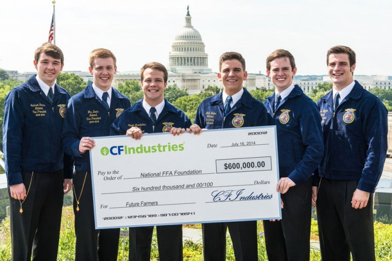 CF Industries Sells Carbon Credits to Chevrolet and Donates Proceeds to FFA