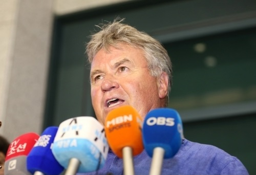 Former South Korean football team head coach Guus Hiddink visited Korea to participate in K League Classic All-Star Game and receive medical treatment at a hospital in Seoul. (image: K League)