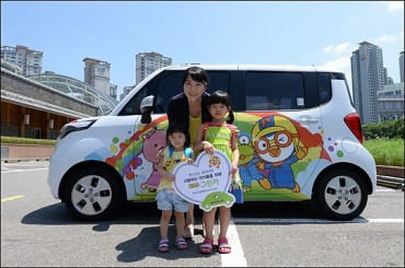 """Pororo"" Green Cars to Ride on Seoul Roads"