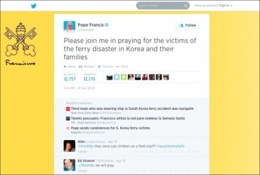 Twitter Korea Announces Analysis Results of Pope Francis' Tweets
