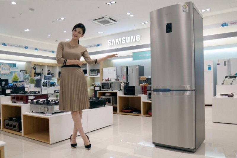 "Samsung Unveils New Refrigerator ""Slim Style"" for Single Homes"