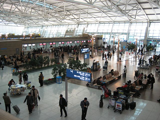 Incheon International Airport Swarms with Passengers