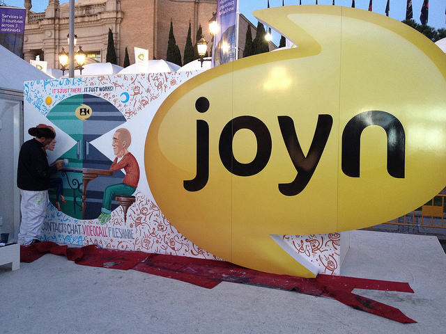 Joyn Blackbird is a communications platform of the Rich Communication Services developed by GSMA, and offers video and image sharing and file transfers through one-to-one and group chats. (image: Ian Fogg/flickr)