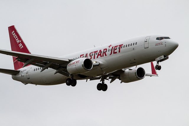 Eastar Jet announced that it will hold a promotional event giving up to a 77-percent special discount to the passengers booking their seats through the mobile app from August 4 to 31. (image: ken H/flickr)